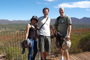 Steven, Wan and Brenton at Wilpena Pound