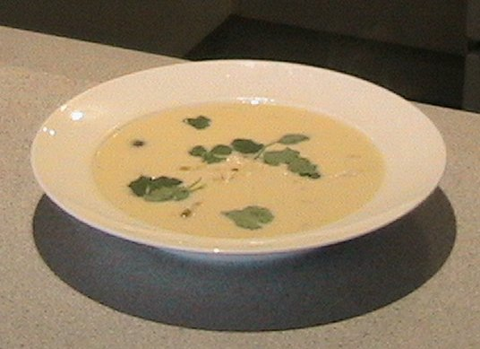 Photo of chicken coconut and galngal soup