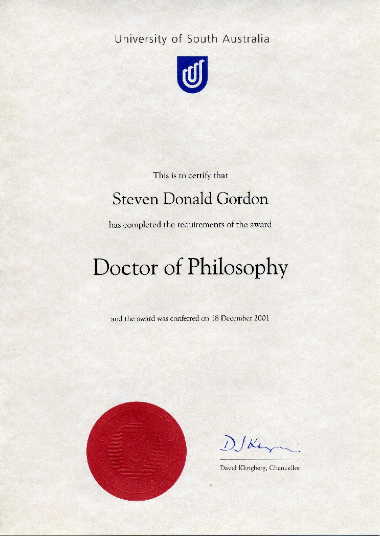 Doctorate degree with thesis